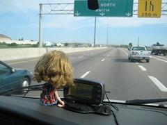 Skye checks the GPS
