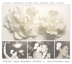 Gardenia_Bridal_Hair_Flowers (hairflowers.com) Tags: wedding vacation orchid flower beach rose hair honeymoon silk clip tropical bridal gardenia flowerhairclip flowerforhair bridalflowerhairclip weddingflowerhair gardeniaflowerforhair