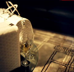 Goyard (Viv   Seattle Bon Vivant) Tags: seattle test shop downtown champagne kodakportra400vc event expired fundraiser goyard 1107 hasselblad500cm proxar pushed1stop seattlemetropolitan rochebobois