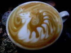 dragon latte art (rellaroo) Tags: coffee dragon boredatwork latte latteart alterra