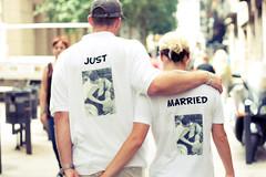 just married (Ghosts Of Chernobyl) Tags: barcelona street photoshop photography bcn lightroom barna reciencasados