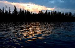 Muddled Waters (Zack Mensinger) Tags: camping lake water oregon waves nationalforest canon10d 2008 waldolake willamettenationalforest naturalareas lakesurface