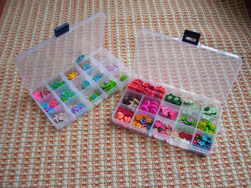 caixinhas de botões
