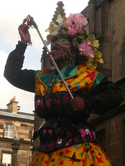Edinburgh Fringe: Elaine Davidson (chairmanblueslovakia) Tags: street pierced woman st tongue scotland high edinburgh cathedral royal odd most freak worlds sword brazilian elaine eccentric giles 2008 davidson mile in