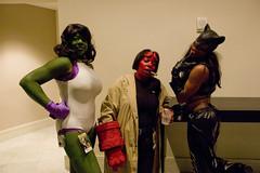 She Hulk, Hellboy and Catwoman (fortunae2002) Tags: costumes hellboy catwoman dragoncon shehulk dragoncon2008 dragoncon08