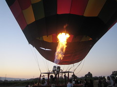 Heating up a balloon