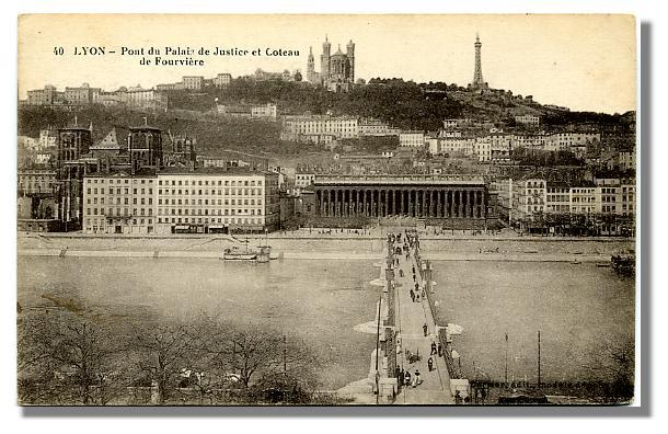 40 LYON - Pont du Palais de Justice