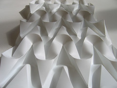 ballerina's shoe ribbons (polyscene) Tags: shadow sculpture white art geometric plane paper design 3d origami pattern bass low craft surface relief polly folded fold curve curved poly bas score crease tessellation surfaces robo basrelief curvature verity threedimensional polypropylene onesheet lowrelief bassrelief nocuts developable polyscene pollyverity developablesurface curvedfold 3dpattern foldedcurves 3dsurface 3dtilepattern 3dfoldedpattern 3dlowreliefpattern foldedpattern foldedtessellation sculpturalsurfaces