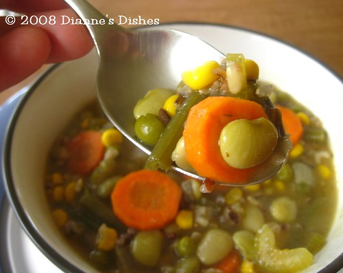 Chickenless Dill and Wild Rice Soup: A Bite