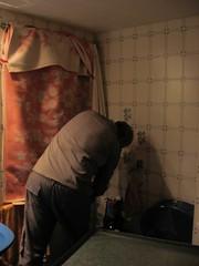 Mi padre montándome mi cuarto oscuro