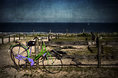 Left To Die (Philipp Klinger Photography) Tags: sea holland green water netherlands grass bike boot see boat sand ship scheveningen dunes horizon den north hague haag northern philipp nordsee schiff the klinger nordzee dcdead
