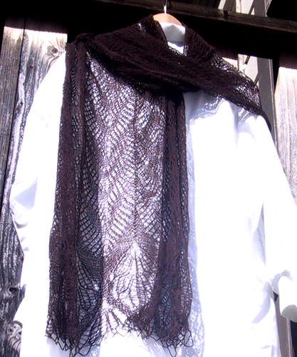 zigzag camel shawl
