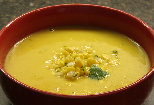 Squash, Corn and Coconut Soup