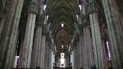 Inside the Duomo (ccr_358) Tags: windows italy milan church architecture dark vanishingpoint italia cathedral interior milano gothic symmetry ceiling nave symmetric duomo pillars lombardia churchinterior ccr358