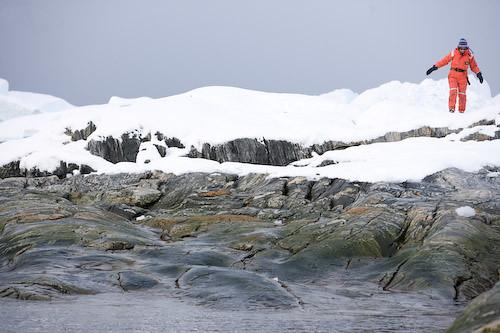 KT Tunstall walking at Ilulissat Kangia