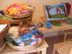 my original wool painting on work (orit dotan) Tags: art wool felted painting children education handmade crafts waldorf blessing fiber steiner needlefelt   mrchenwolle nadelfilzen oritdotan oritdotandolls              waldorfeducation      waldorfarts