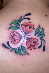 spiral flower tattoo (maliareynolds) Tags: atlanta tattoos flowertattoo memorialtattoo floraltattoo maliareynolds femaletattooer atlantatattooer