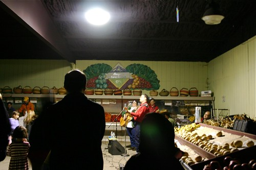 music in the produce market