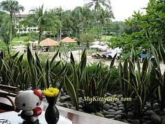 Hello Kitty's View of Swimming Pool at Saujana Hotel, Kuala Lumpur, Malaysia
