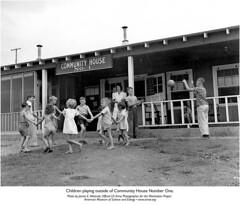 Community House-Kids Playing (AMSE Oak Ridge) Tags: wwii westcott ornl x10 manhattanproject