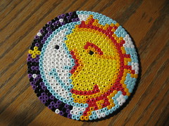 Perler Beads Sun Moon (Kid's Birthday Parties) Tags: sun moon kids night beads day crafts kidscrafts fusebeads hamabeads perlerbeads