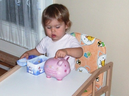 Sparschwein füttern