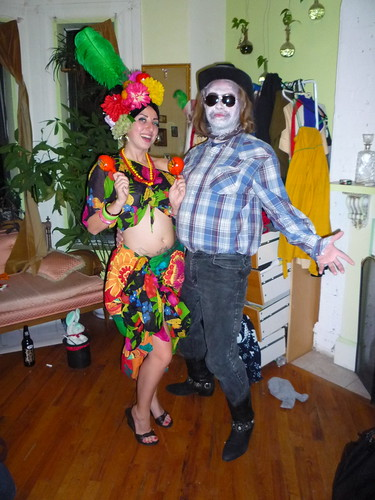 carmen miranda and farmer beetlejuice