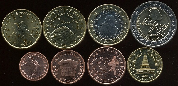 Slovenia euro coins set 2007