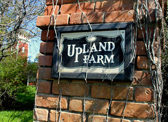 Upland farm sign
