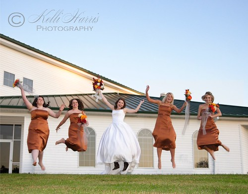 Jumping Bride & Maids