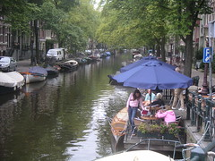 AMSTERDAM The Pontoon Outside Cafe 't Smalle (deltrems) Tags: holland netherlands amsterdam canal pontoon canalside smalle