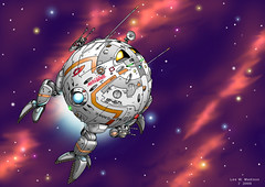 StarSnooper (ArtraccoonEmpire) Tags: anime space scifi spacecraft starship starships