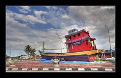 On the Land... (Azmi Bogart) Tags: red boat raw fishermen malaysia bogart kuala lumpur azmi trengganu tokbali pasirputihhdr