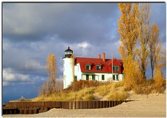 Pointe Betsie Lighthouse (KT of Lake Orion) Tags: autumn girlsweekend benziecounty mywinners frhwofavs vosplusbellesphotos nearfrankfortmi