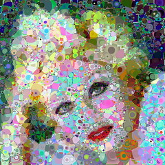 Bed Time Stories (Village9991) Tags: people mosaic madonna mosaics photomosaic points bedtime stories 90s ciccone village9991