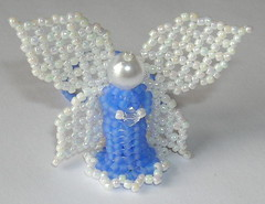 Tiny Frosty Blue Angel Ornament (fivefootfury) Tags: