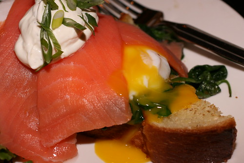 Smoked Salmon and Spinach Benedict