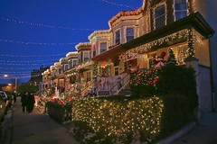 Christmas Lights-34th Street Hampden, Baltimore MD (crabsandbeer (Kevin Moore)) Tags: santa winter urban holiday 34thstreet kitsch hamden christmaslights ornaments merrychristmas hampden hubcaps candycanes baltimoremd miracleon34thstreet