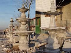 您好:请收我们雕刻的石雕鱼,石雕喷泉水景图片(我中央美院嘉祥石雕厂刘亚)