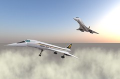 Second life Concorde 3 (Asterion Coen) Tags: plane secondlife concorde asterioncoen