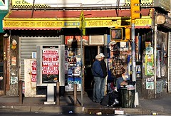 Coffee & Cigarettes (4/90) (Ry Pepper) Tags: street city nyc red urban white signs newyork cold coffee gardens brooklyn store garbage tea dirty litter storefront bodega dontwalk gothamist refuse cigarettes sandwiches flatbush open24hours cpac grimy lefferts overllowing