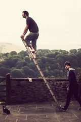 Escapism Will Always Fail You (STCM) Tags: friends dog man wall climb gate farm stephen males ladder morris escapeism
