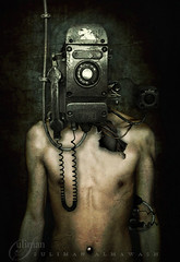 Telephone man (suliman almawash) Tags: art photoshop kuwait dreamcatcher suliman      almawash
