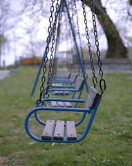 Swings (K. Besios) Tags: mediumformat bokeh swings 6x7 2010 plaubel kodak400vc colornegative foldercamera makina67