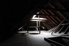 spotlight (Into Space!) Tags: light ny newyork abandoned canon dark li photo darkness ruin naturallight spotlight longisland creepy attic intospace intospaces