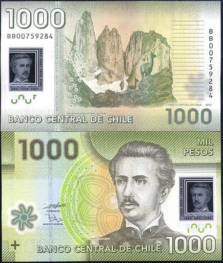 1000 Pesos Chile 2010, polymer
