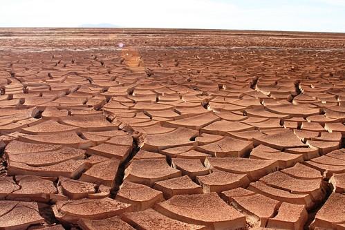 Aridez del terreno de Regreso a Uyuni, Bolivia