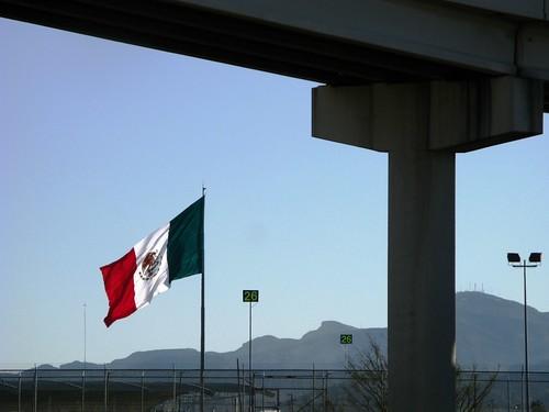 Mexican border at El Paso, Texas, USA