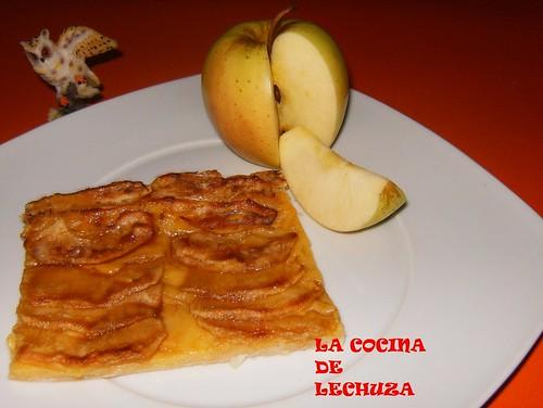 Hojaldre de manzana porción+
