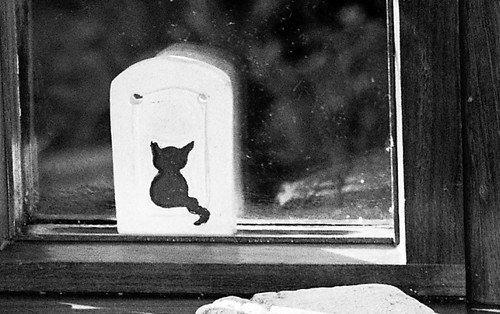 Ceramic Cat on Window Sill